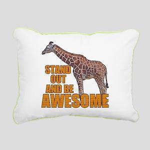 Stand Tall Giraffe Rectangular Canvas Pillow