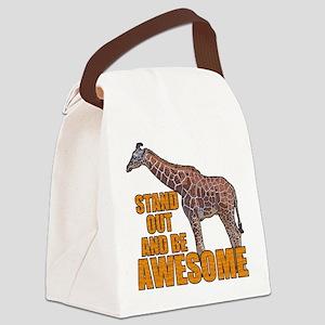 Stand Tall Giraffe Canvas Lunch Bag