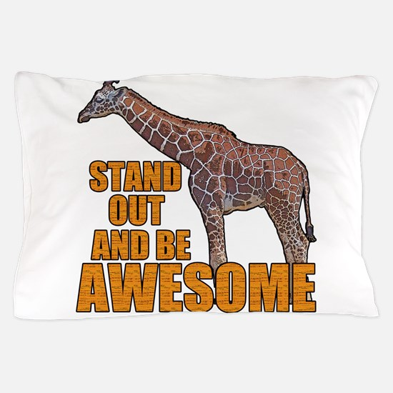 Stand Tall Giraffe Pillow Case