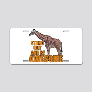Stand Tall Giraffe Aluminum License Plate