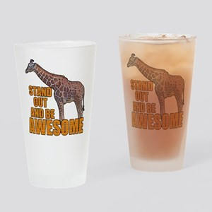 Stand Tall Giraffe Drinking Glass