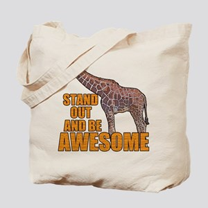 Stand Tall Giraffe Tote Bag