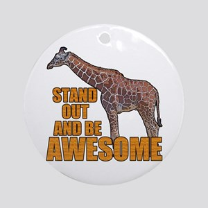 Stand Tall Giraffe Round Ornament