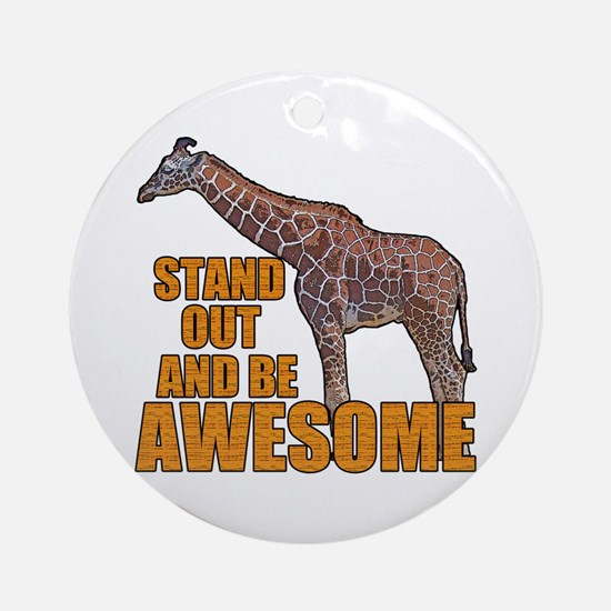 Stand Tall Giraffe Round Ornament