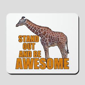 Stand Tall Giraffe Mousepad