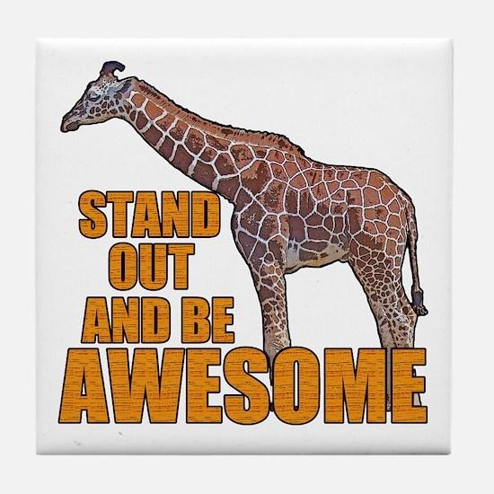 Stand Tall Giraffe Tile Coaster