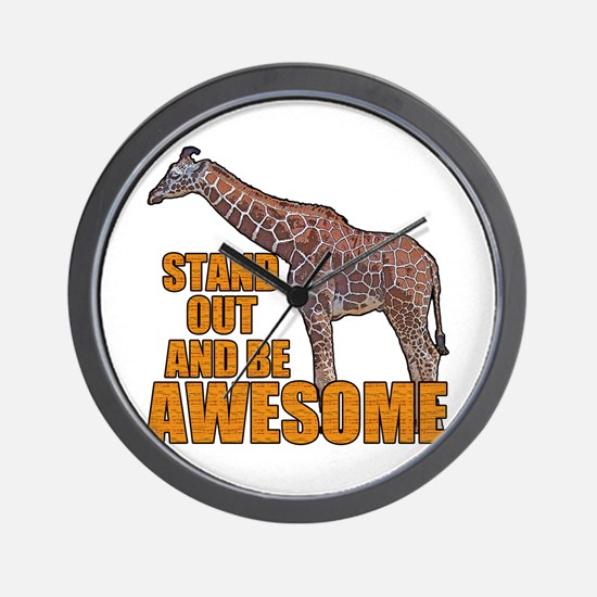 Stand Tall Giraffe Wall Clock