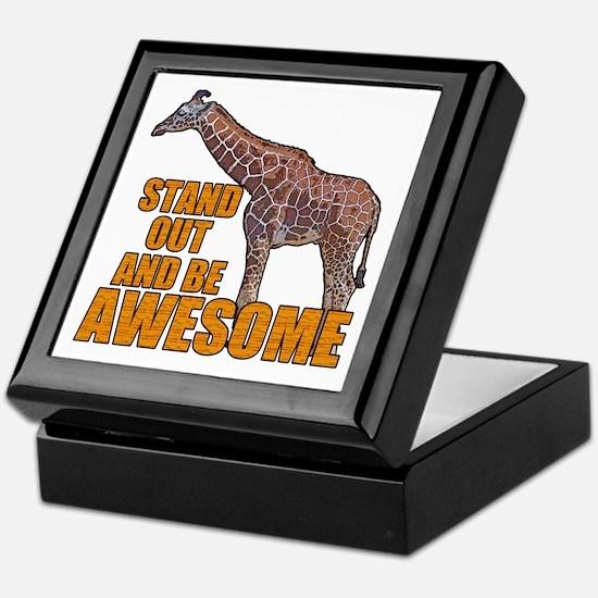 Stand Tall Giraffe Keepsake Box