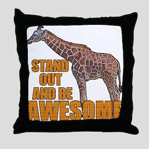 Stand Tall Giraffe Throw Pillow