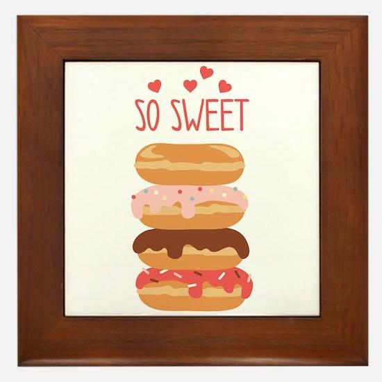 So Sweet Donuts Framed Tile