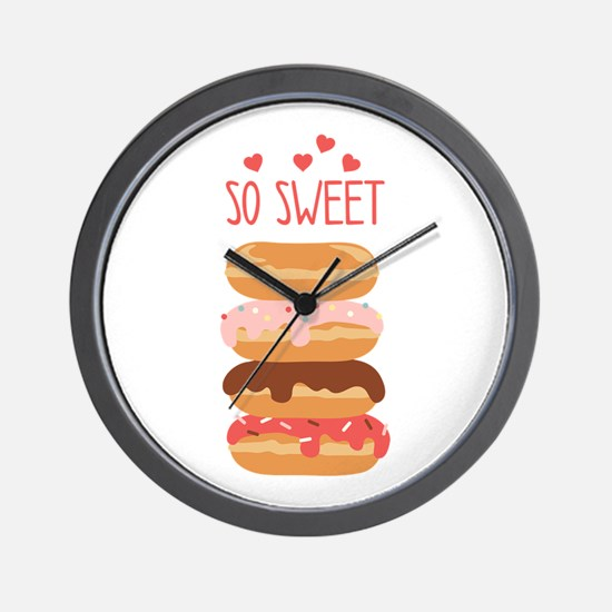 So Sweet Donuts Wall Clock