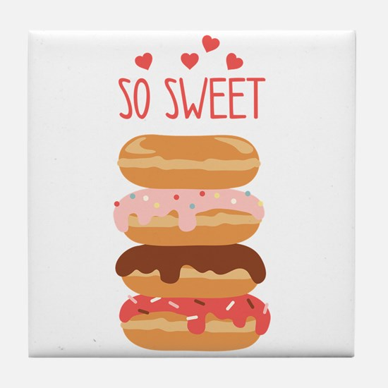 So Sweet Donuts Tile Coaster