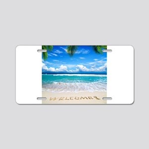 Welcome Summer Aluminum License Plate