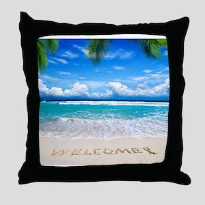 Welcome Summer Throw Pillow