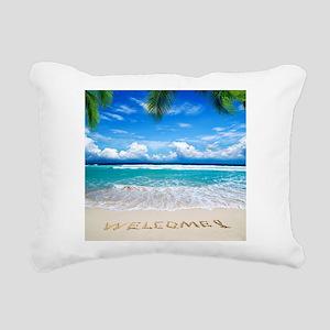 Welcome Summer Rectangular Canvas Pillow