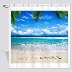 Welcome Summer Shower Curtain