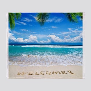 Welcome Summer Throw Blanket