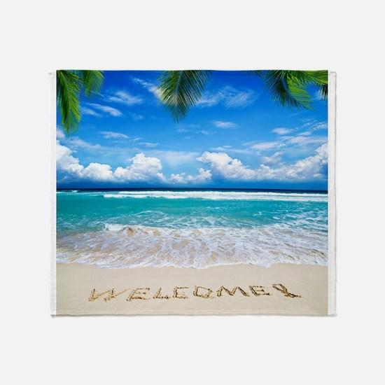 Welcome Summer Throw Blanket