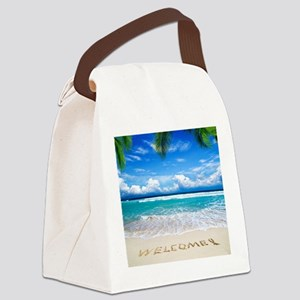 Welcome Summer Canvas Lunch Bag