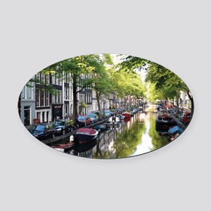 Amsterdam Dawn Oval Car Magnet