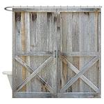 Old Rustic Barn Door Shower Curtain