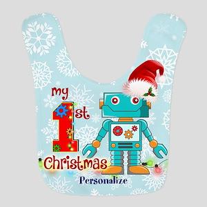 1st Christmas Robot Custom Bib