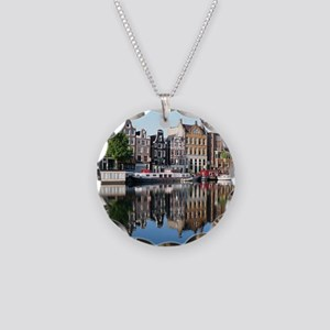 Amsterdam Reflections Necklace Circle Charm