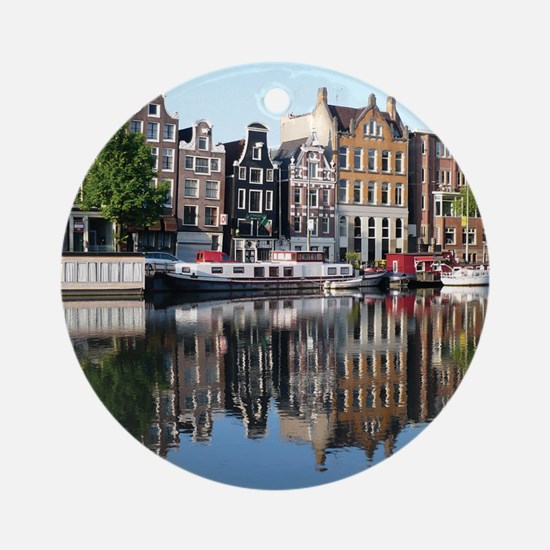 Amsterdam Reflections Round Ornament