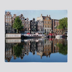 Amsterdam Reflections Throw Blanket