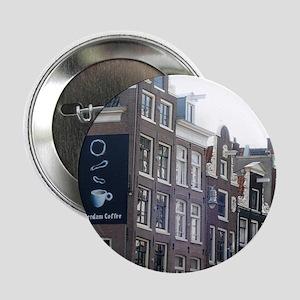 "Coffee in Amsterdam 2.25"" Button"