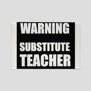 Warning Substitute Teacher Magnets