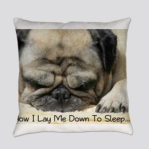 Pug Praying Everyday Pillow