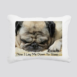 Pug Praying Rectangular Canvas Pillow