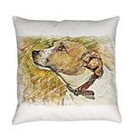 Jack Russell Sketch Everyday Pillow