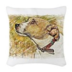 Jack Russell Sketch Woven Throw Pillow