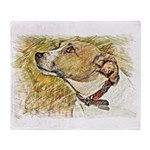 Jack Russell Sketch Throw Blanket