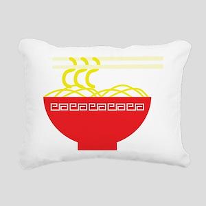 Noodles Rectangular Canvas Pillow