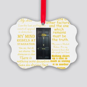 Sherlock Holmes Quotes Ornament