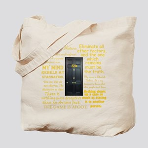 Sherlock Holmes Quotes Tote Bag