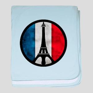 Peace in Paris 2 baby blanket