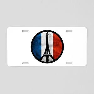 Peace in Paris 2 Aluminum License Plate