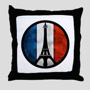 Peace in Paris 2 Throw Pillow
