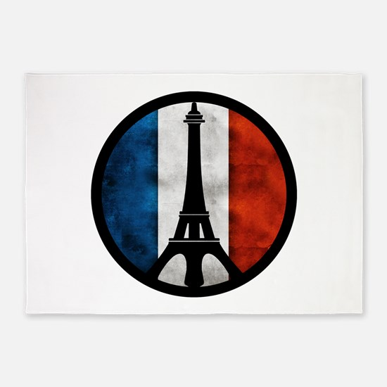 Peace in Paris 2 5'x7'Area Rug