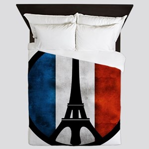 Peace in Paris 2 Queen Duvet