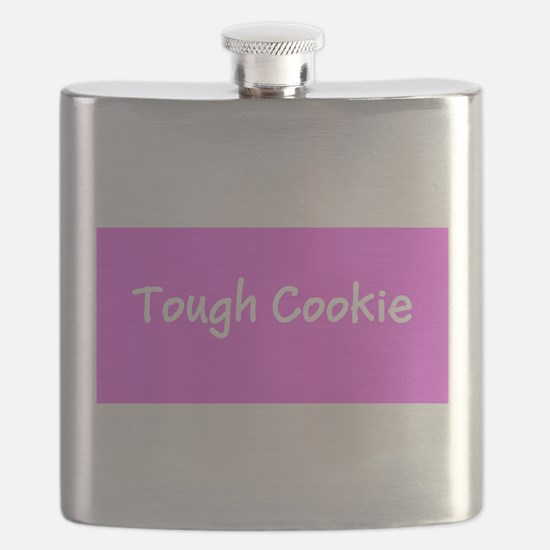 Tough Cookie Breast Cancer Pink for Flo Flask