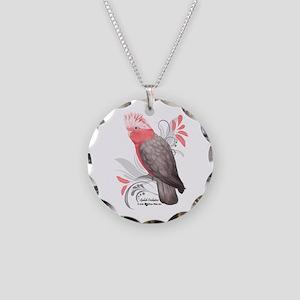 Galah Cockatoo Necklace Circle Charm