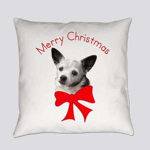 Merry Christmas Chi Everyday Pillow