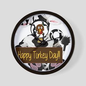 Turkey Day Humor Wall Clock