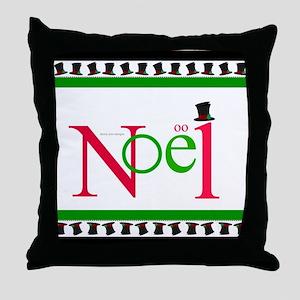Hats Off Noel Hats Border Throw Pillow