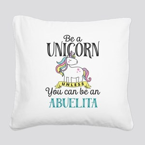 Unicorn ABUELITA Square Canvas Pillow